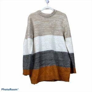 Universal thread color block striped sweater